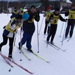 První trénink na lyžích