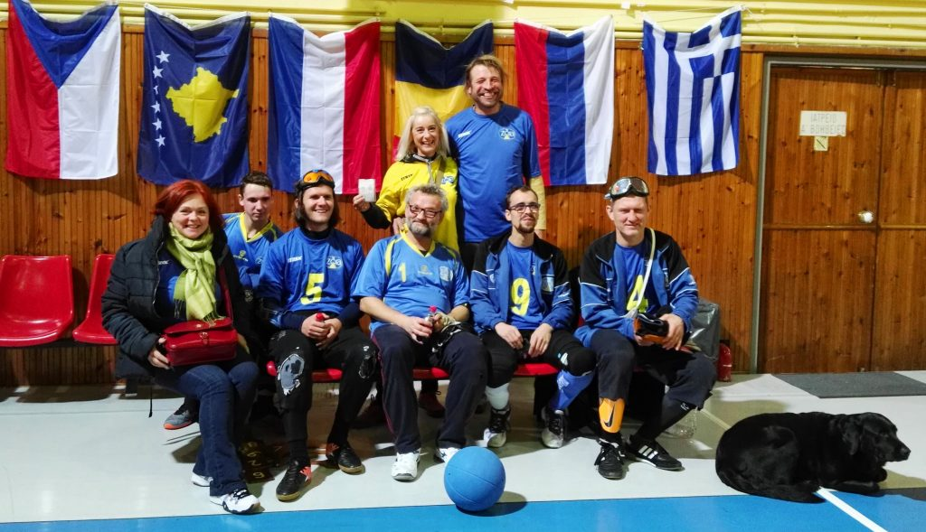 Goalballisté v Řecku