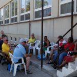 Tábor si Holanďané vytvořili venku u jídelny
